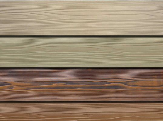 Wooden Grain Fibre Cement Cladding Boards 190/200mm Width Freezing Resistance