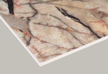 Marble Surface Interior Fiber Cement Board , High Strength Cement Fibre Sheet