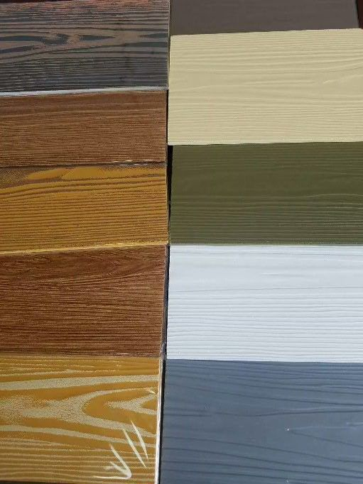 Rustic Insulated Vertical Fiber Cement Siding Board Wood