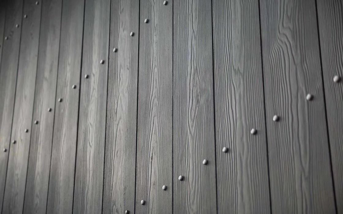 Wooden Grain Texture Sheet Cladding For External Walls